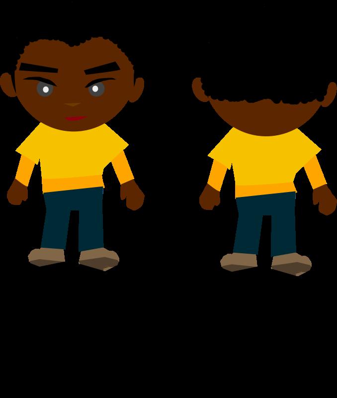 Free Clipart: Black Boy.