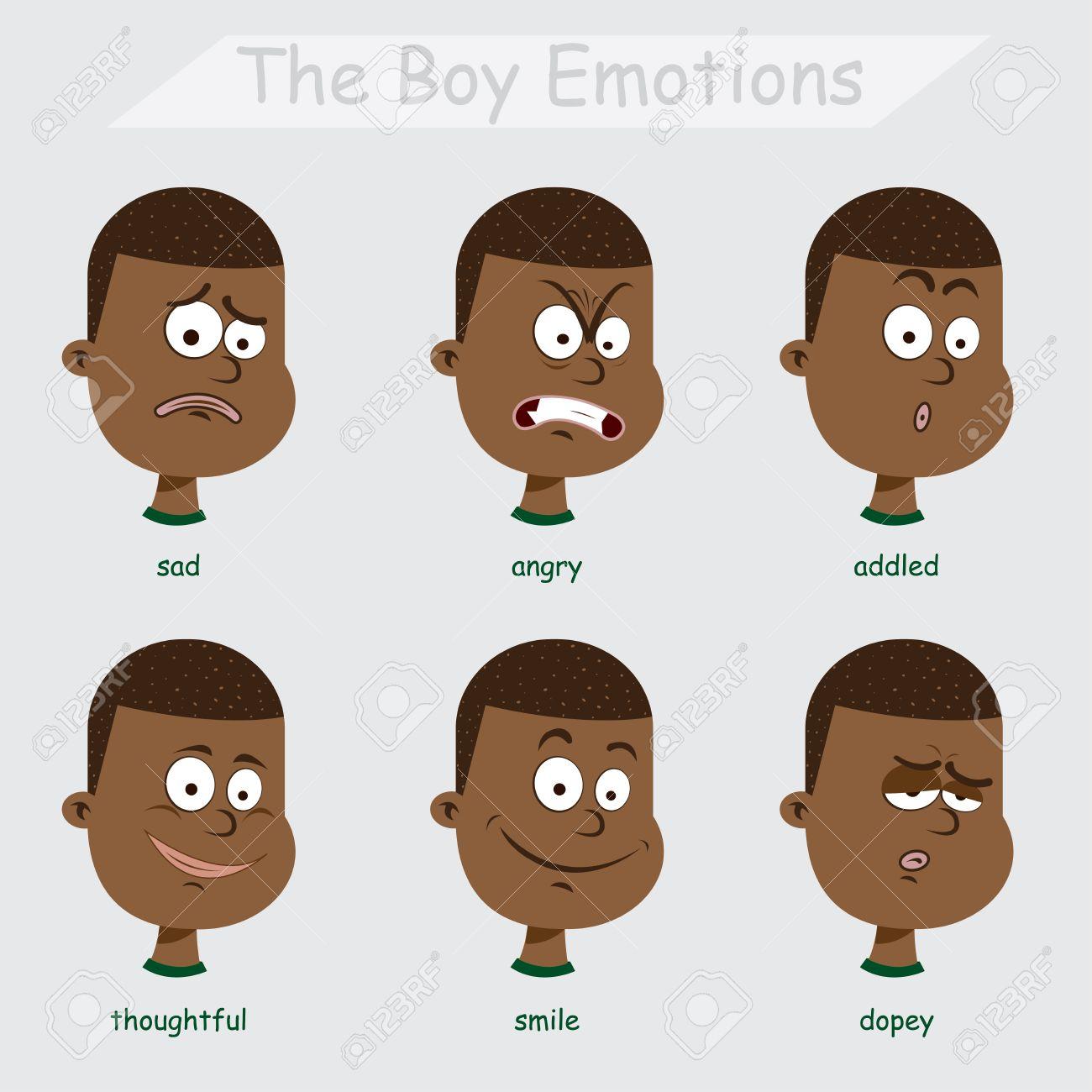 the black boy emotions.