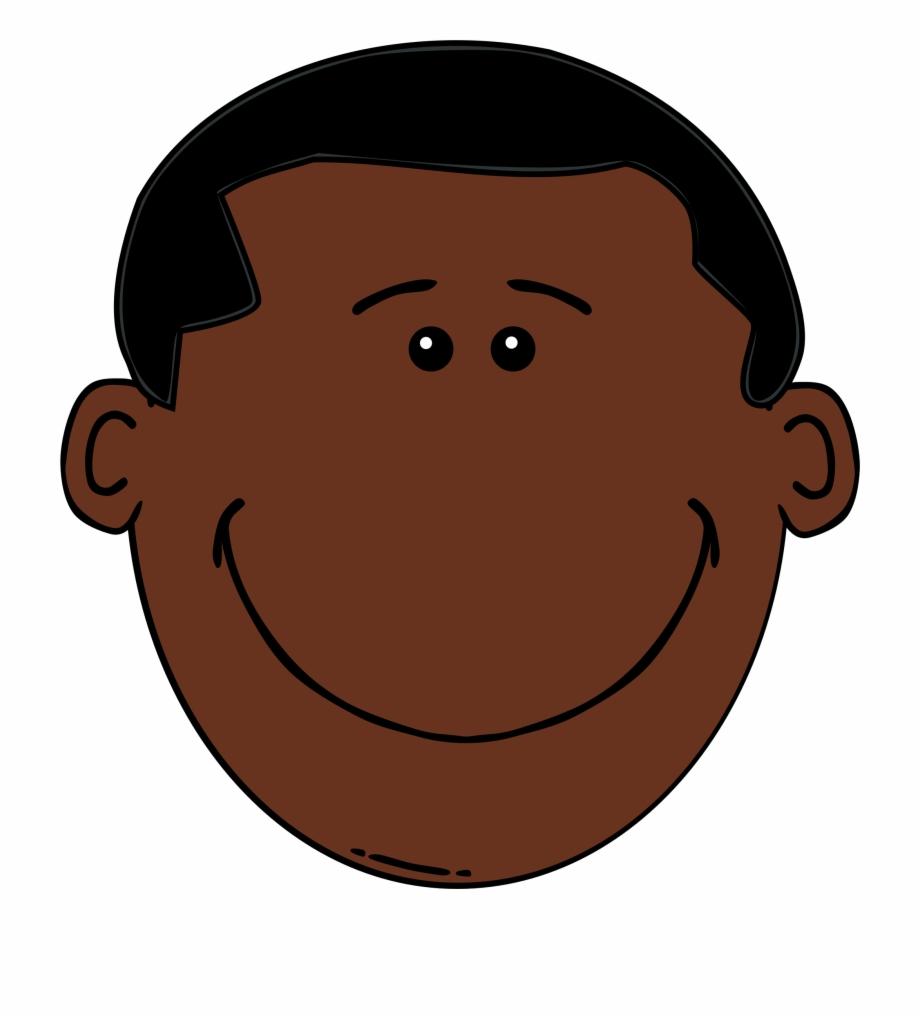 Black Hair Boy Clipart.