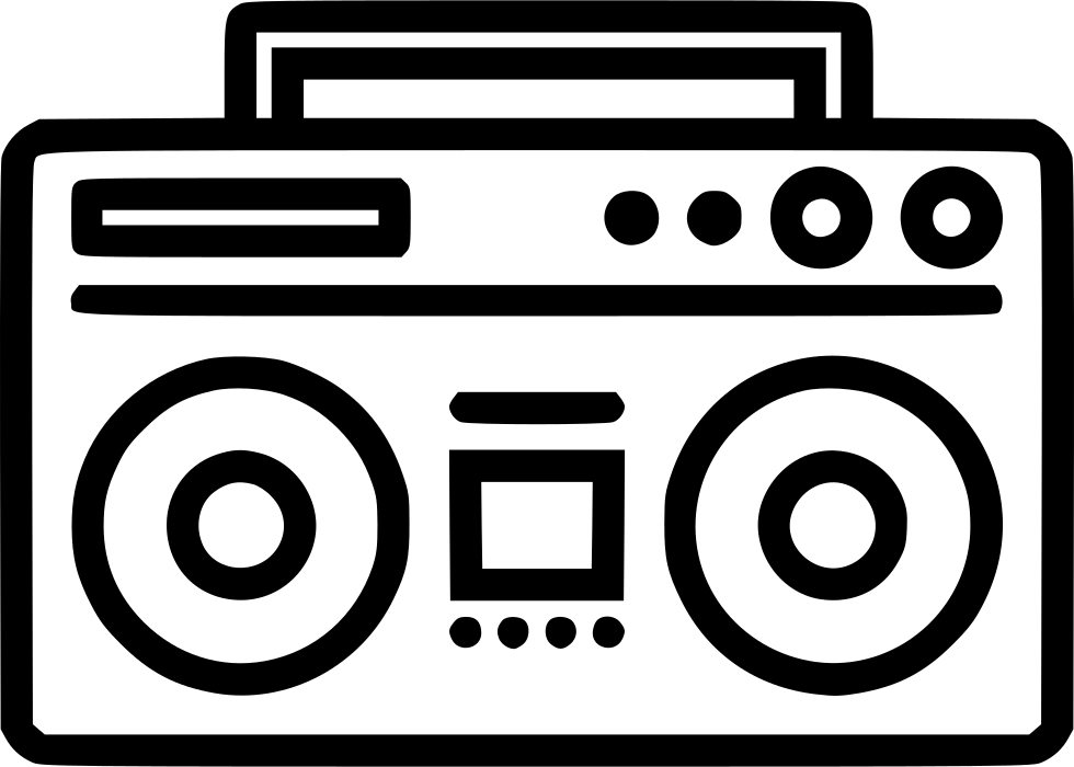 Svg Icon Free Download Boombox.