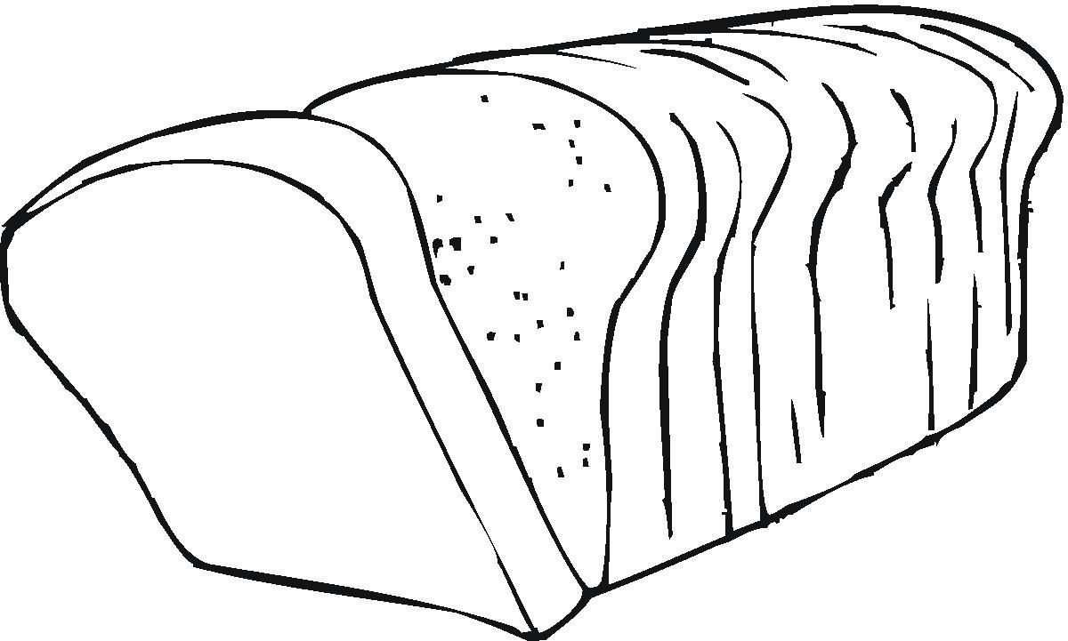 Bread clipart black and white.