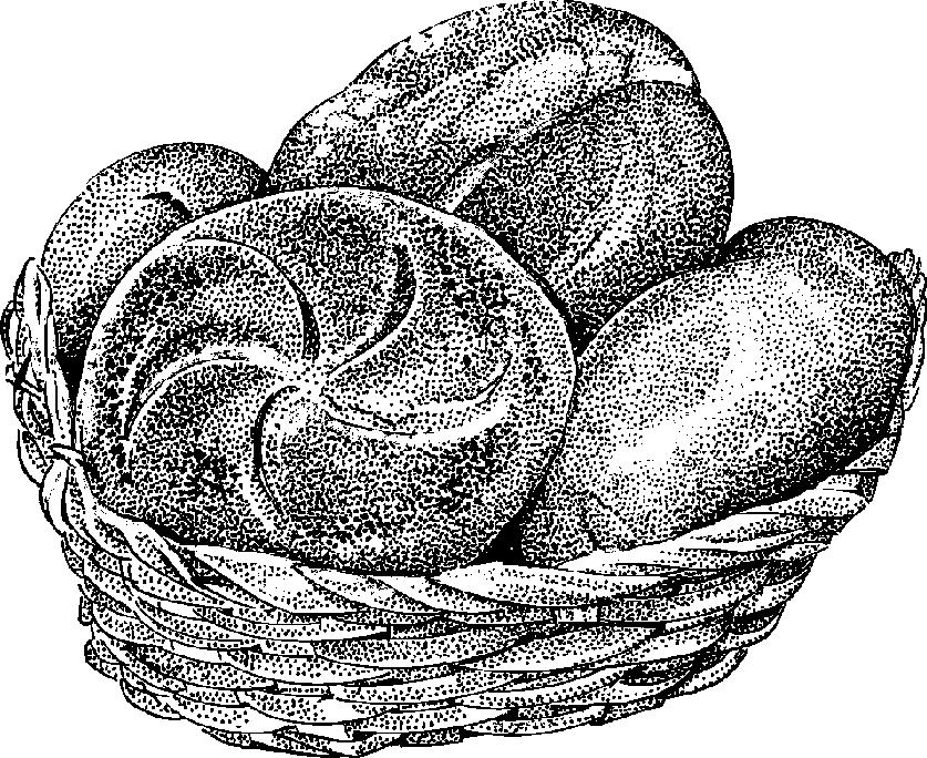 Bread clip art black and white.