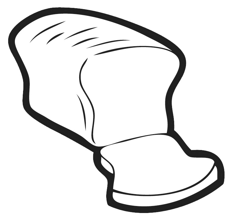 Bread Clip Art Black And White.