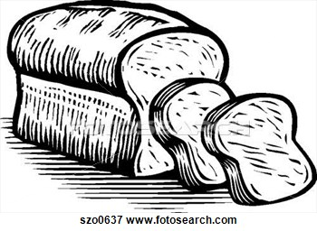 White Bread And Black Clipart.