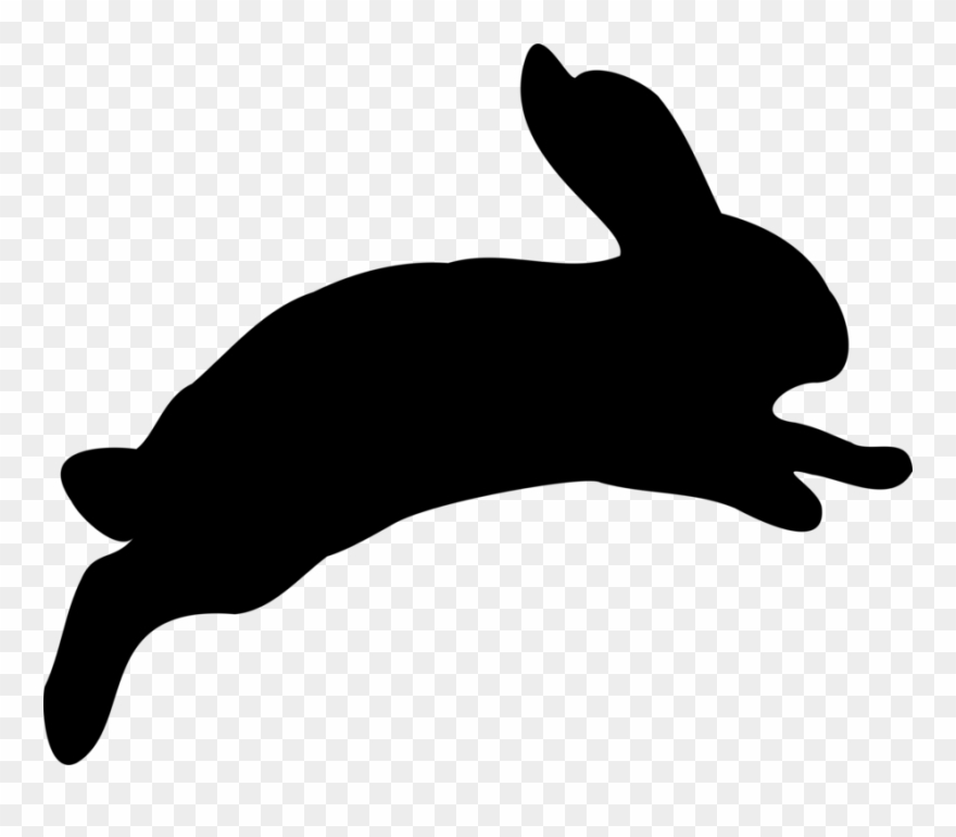 Bunny Black And White Free Vector Graphic Bunny Clipart.