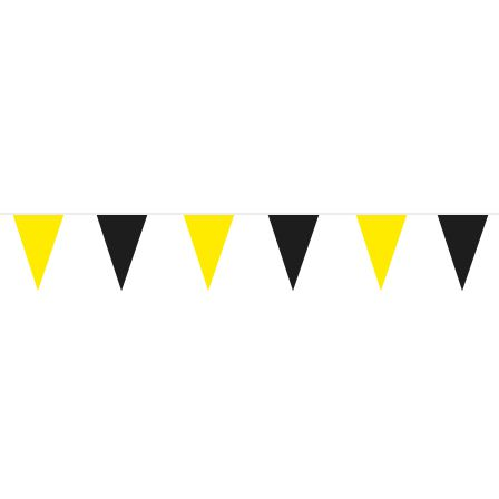 Black and Yellow Polyester Bunting.