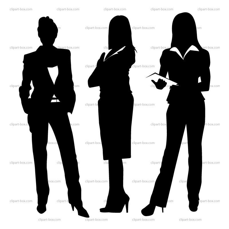 Businesswoman clipart black and white, Businesswoman black.