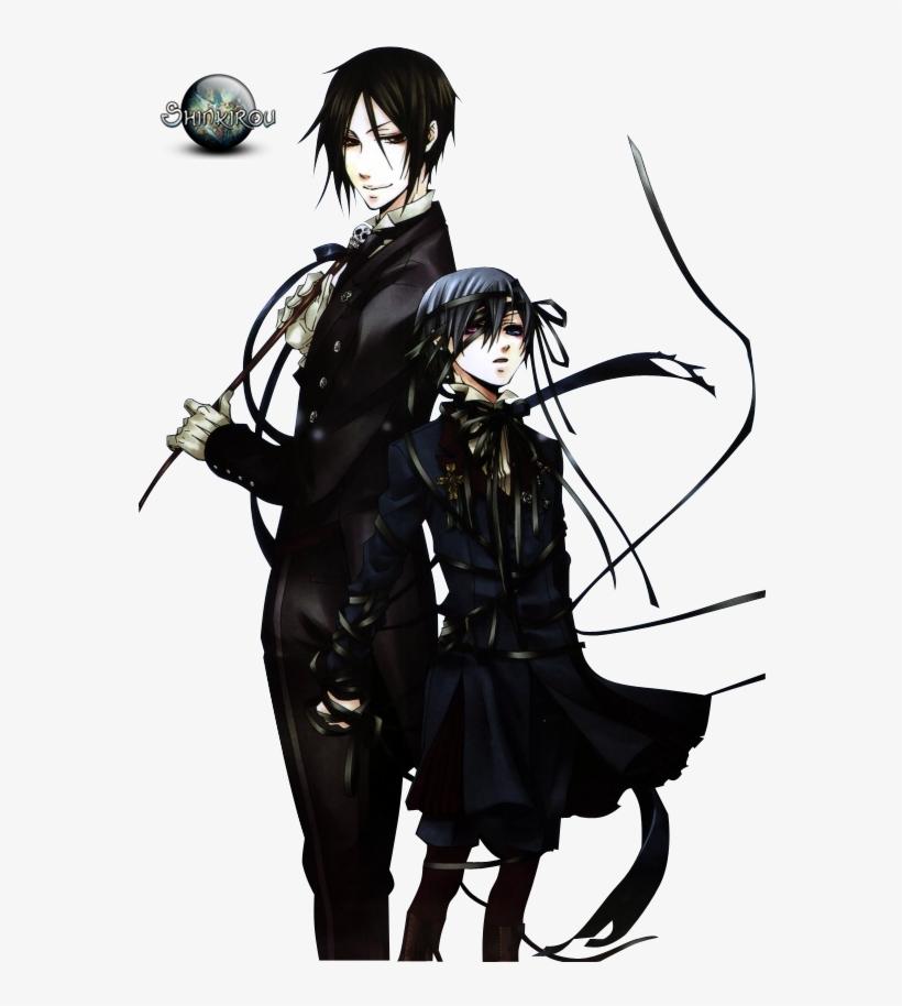 Renders Ciel Sebastian Kuroshitsuji Black Butler.