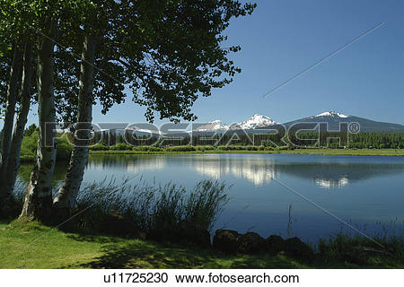 Stock Photography of Three Sisters, OR, Oregon, Black Butte Ranch.