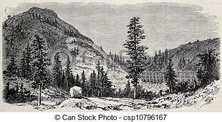 Stock Illustration of Black Butte.