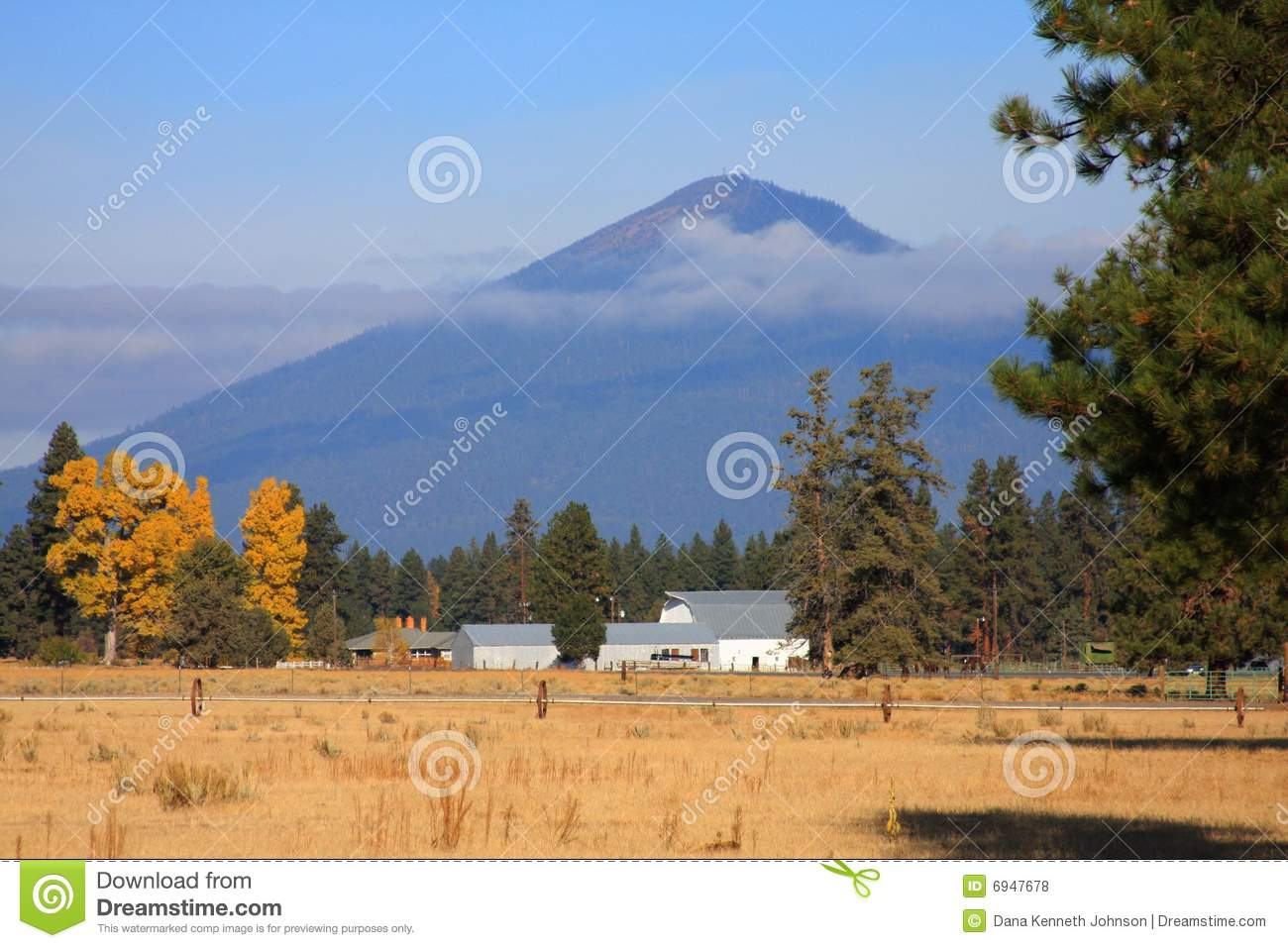 Black Butte, Sisters, Oregon Royalty Free Stock Photos.