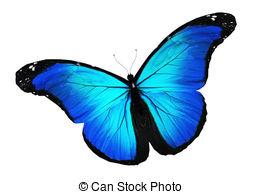 Dark blue butterfly clipart.