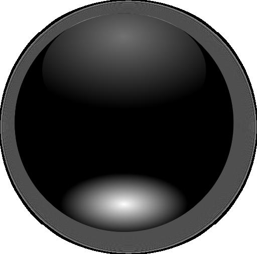 Round Black Button Clipart.