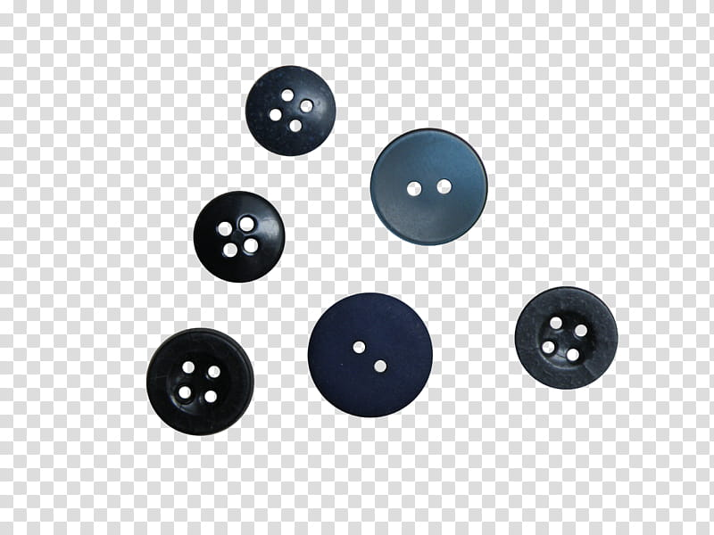 SET Mums buttons, six black buttons transparent background.