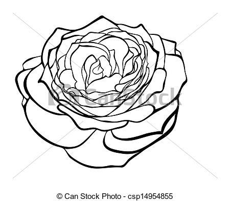 Rose Clip Art Black And White.