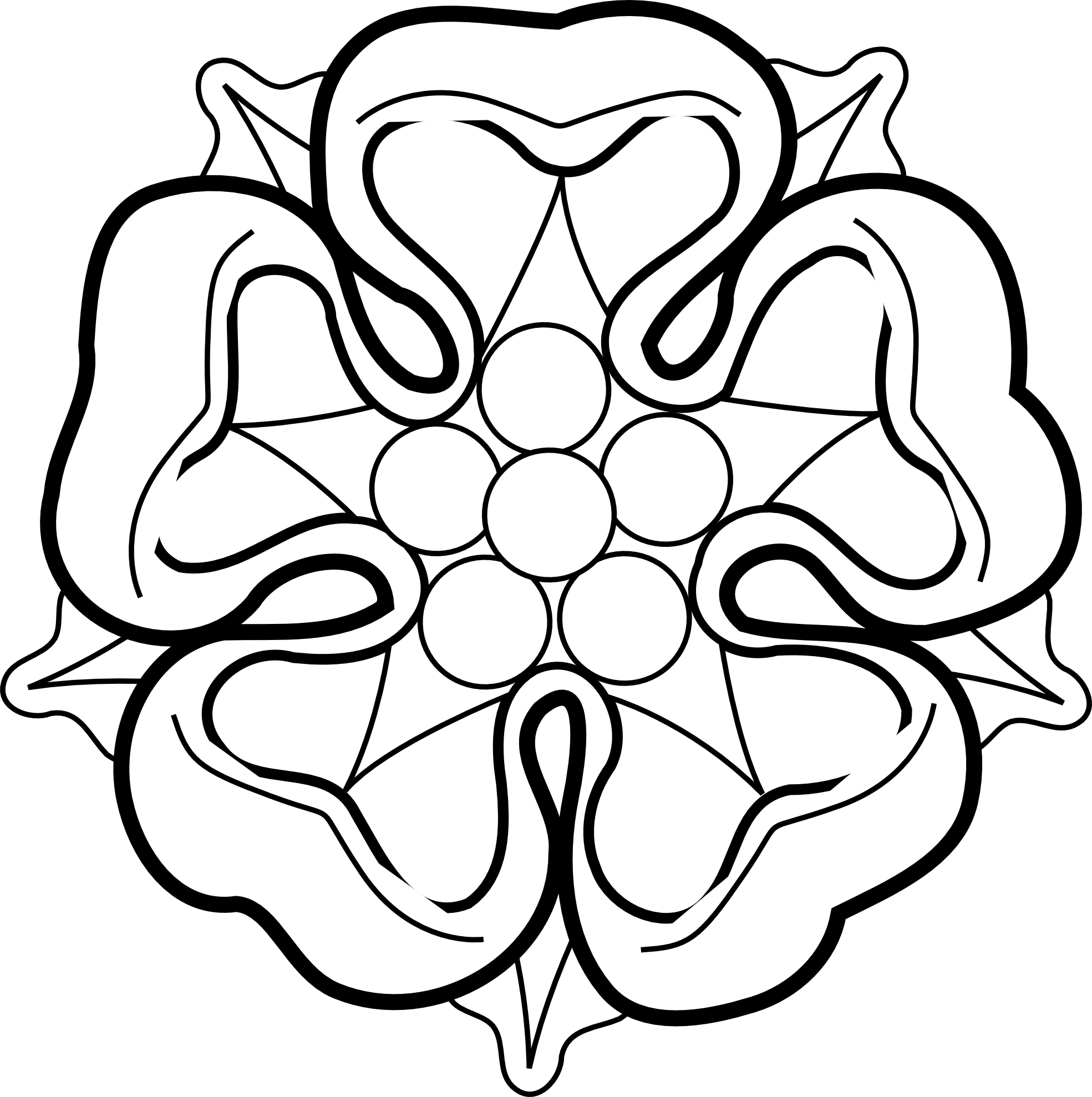 Black And White Rose Drawings.