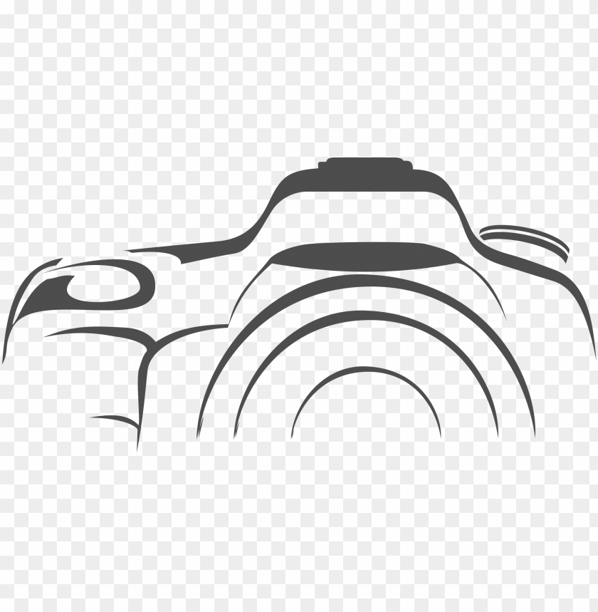 clip royalty free camera clipart black and white png.