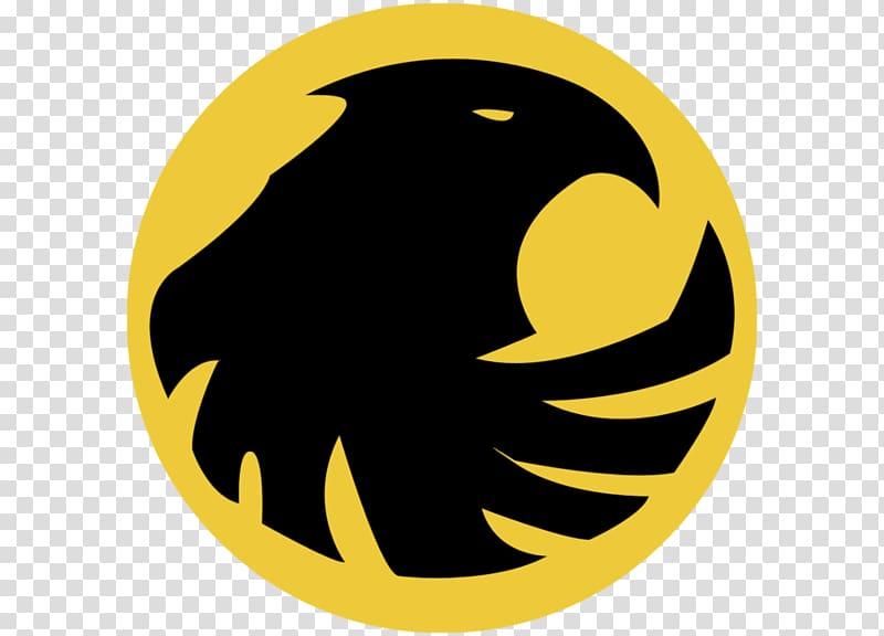 Round black and yellow bird logo, Black Canary Green Arrow.