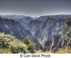 Picture of Black Canyon of the Gunnison National Park in Colorado.