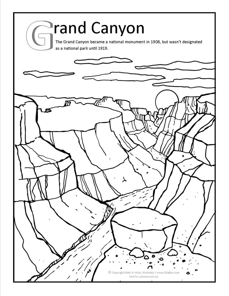 Canyon Black And White Clipart.