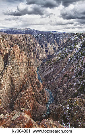 Stock Photography of Black Canyon of the Gunnison Park in Colorado.