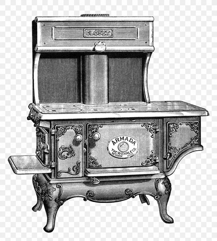 Cooking Ranges Wood Stoves Clip Art, PNG, 1760x1959px.
