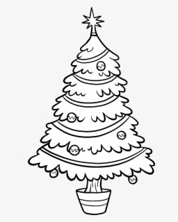 Free Christmas Tree Black And White Clip Art with No.