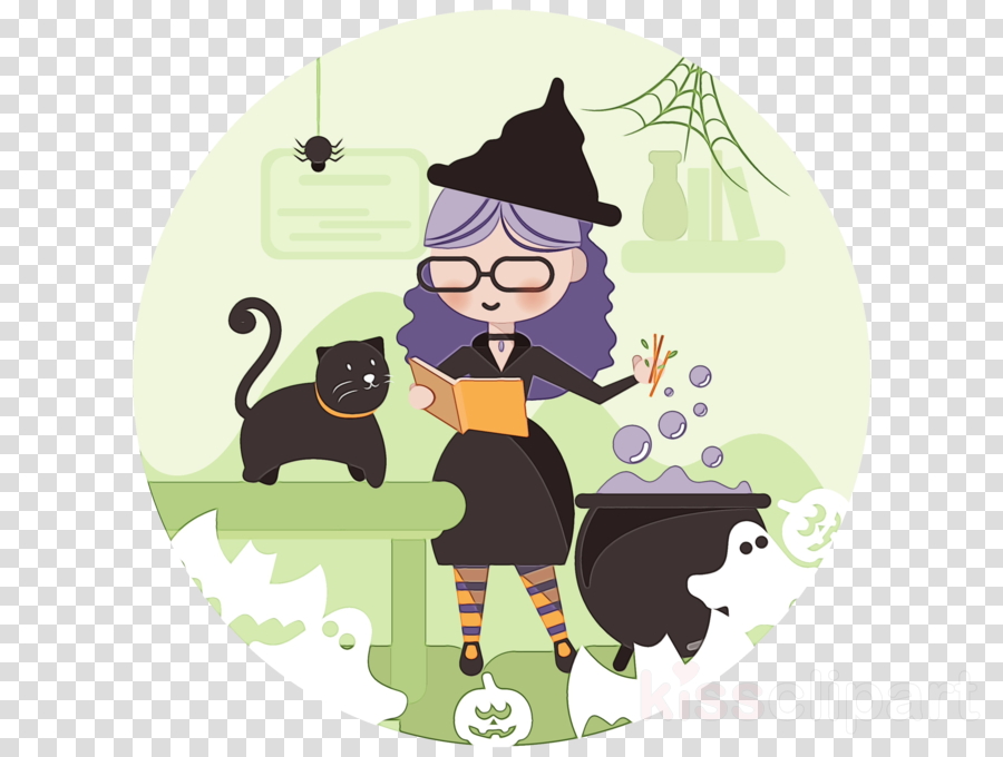 cartoon black cat cat clipart.