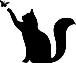 Free Cat Silhouette Clip Art Image: Clip Art Silhouette Of A Cat.