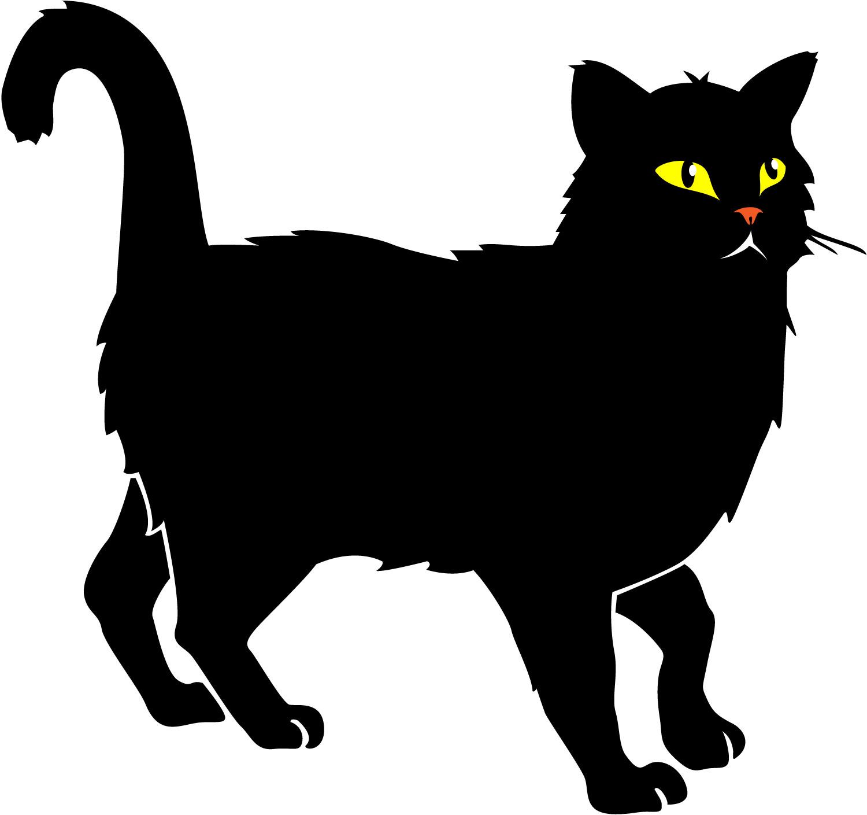 90+ Black Cat Clipart.