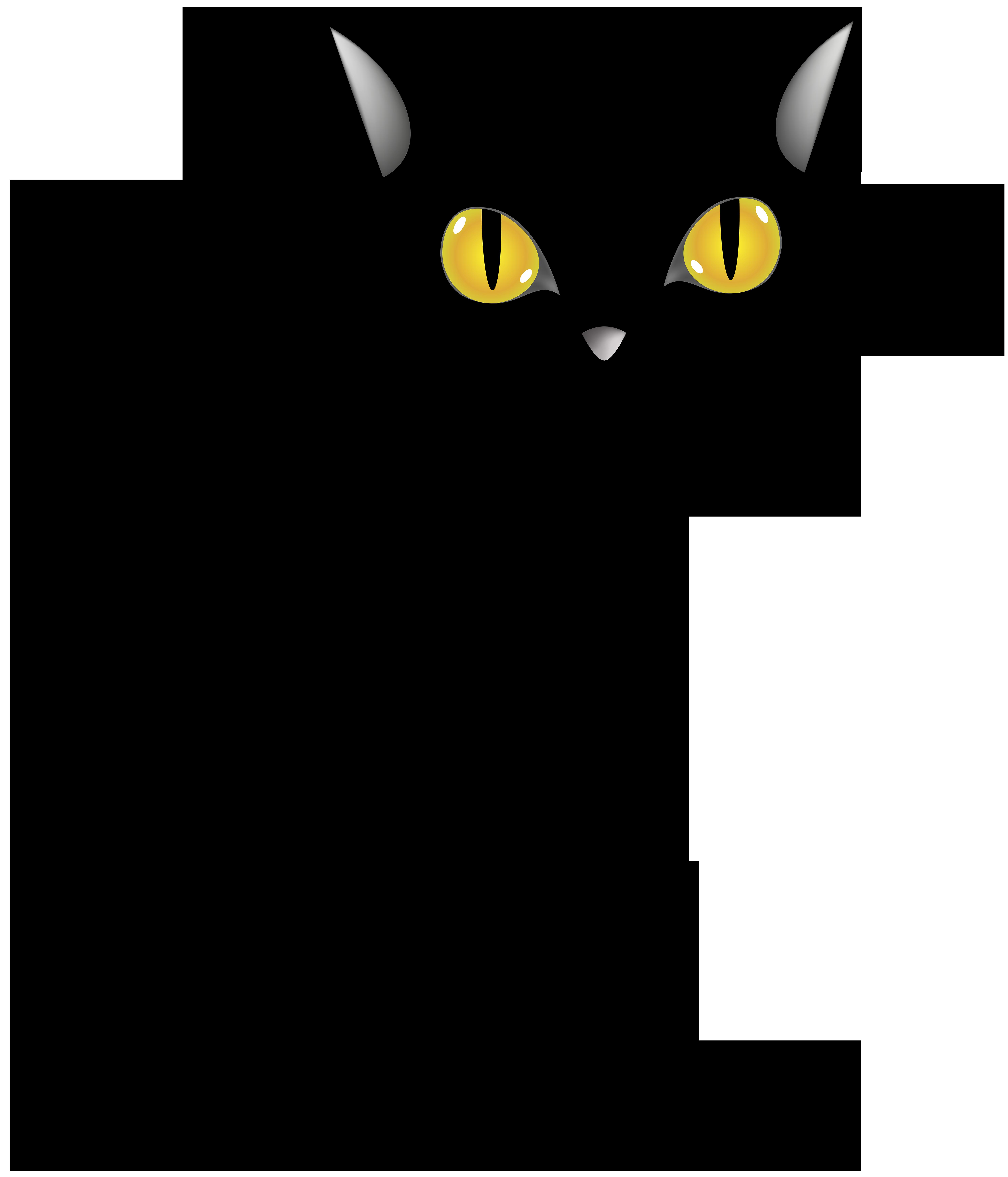 Halloween Black Cat PNG Clip Art Image.
