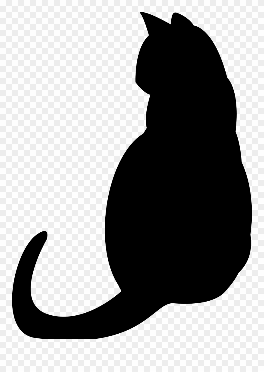 Kisspng Black Cat Silhouette Kitten Clip Art Pets 5acdca2f06fb38.