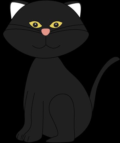 Black cat clip art images.