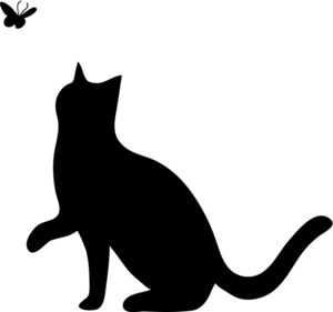 Black Cat Silhouette Clipart.