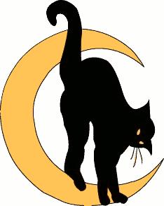 Free Black Cat Clipart.