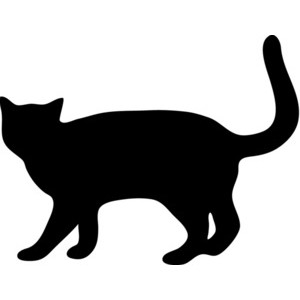 Black cat clipart - Clipground