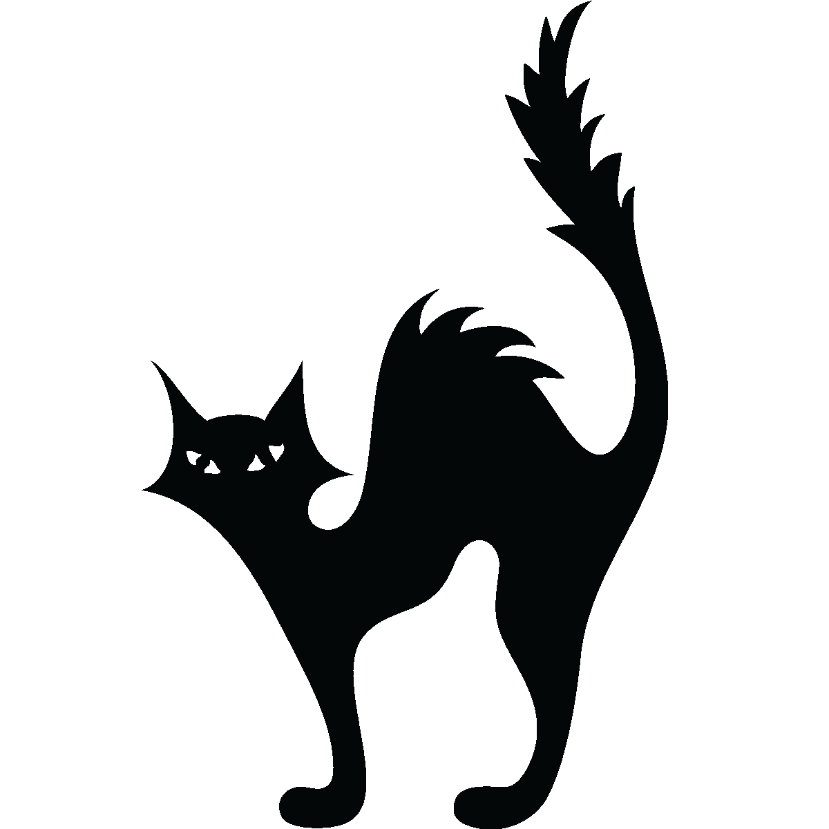 Cat Kitten Halloween Silhouette Clip art.