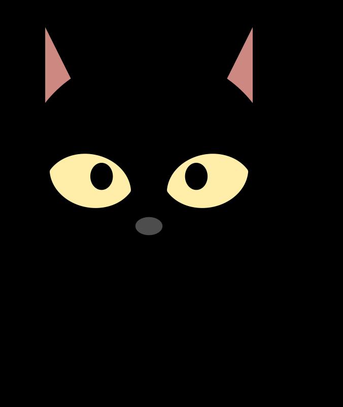 Cute Black Cat Clipart.