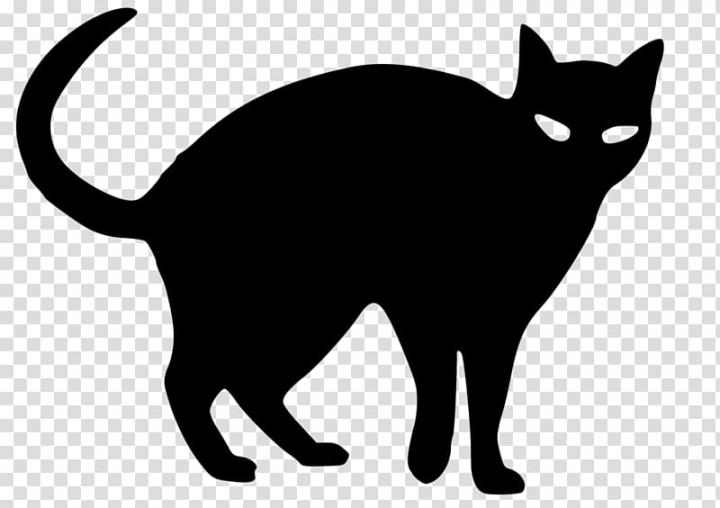 Snowshoe cat Silhouette Black cat Drawing , Silhouette.