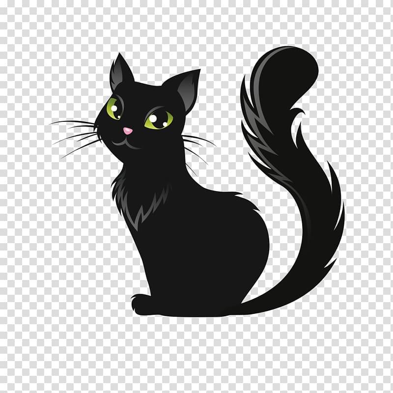 Cat Kitten Halloween Illustration, Halloween black cat.