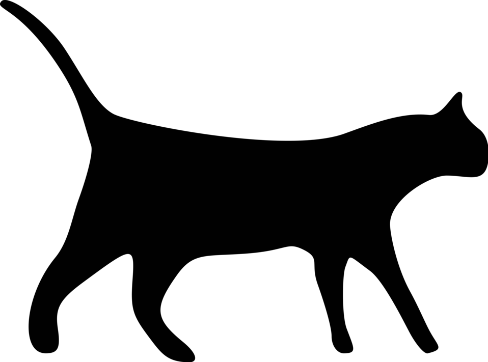 Free Black Cat Transparent Background, Download Free Clip.
