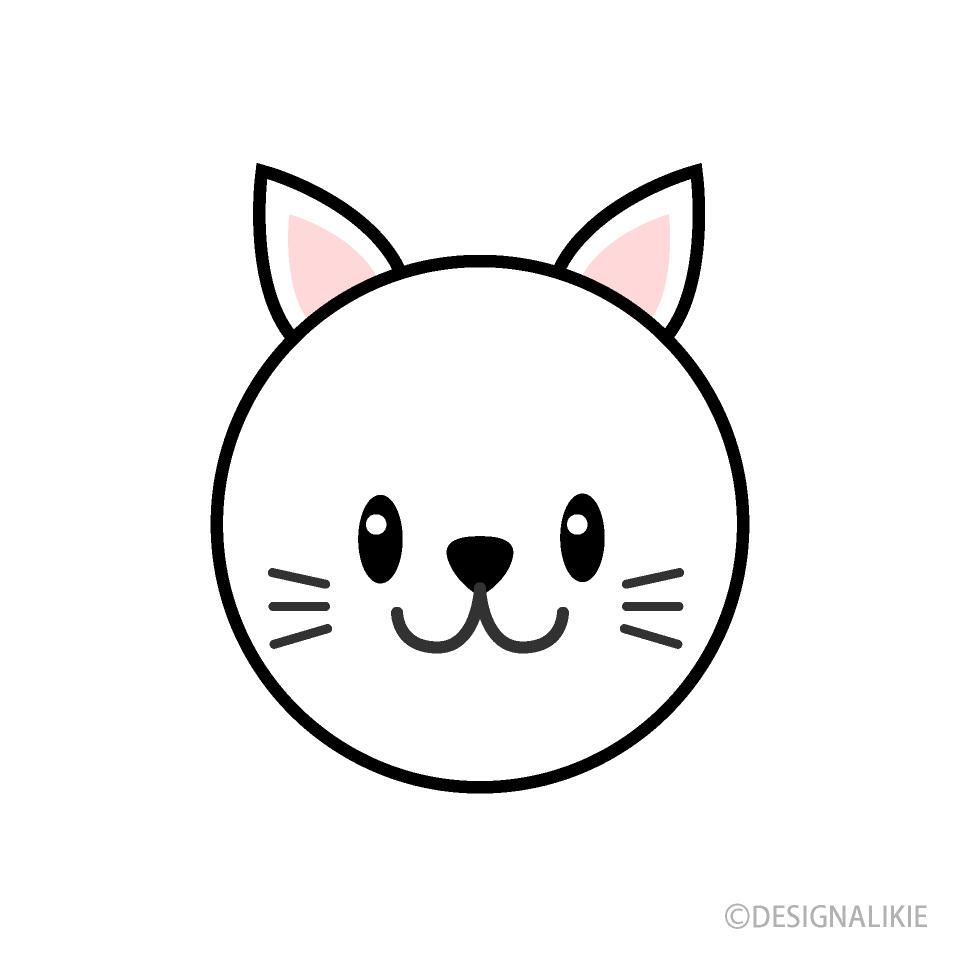 Free Simple Cat Face Clipart Image|Illustoon.