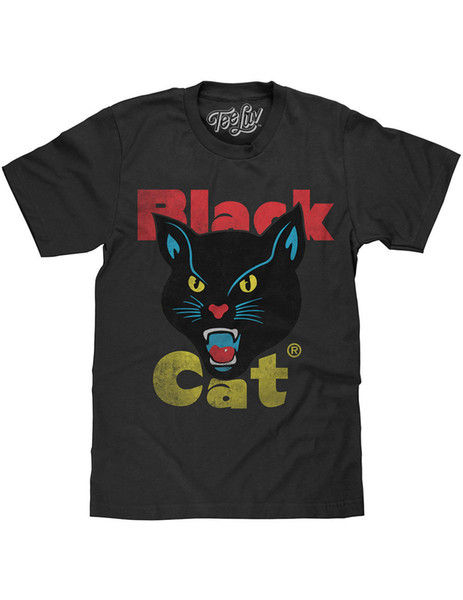 NEW NWT Black Cat Fireworks Brand Logo T Shirt Officially Licensed 2X T  Shirt On Buy Cool Shirts From Astunningtshirt, $13.19.
