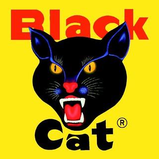 Black Cat Fireworks Logo.