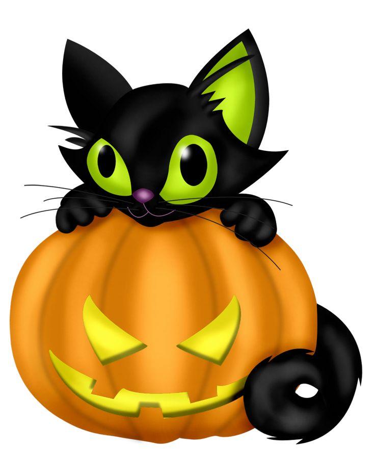 black cat halloween clipart - Clipground