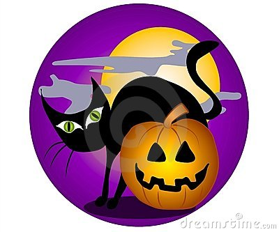 Black Cat Halloween Clip Art Stock Photography.