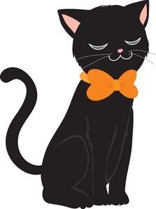Halloween clip art black cat.