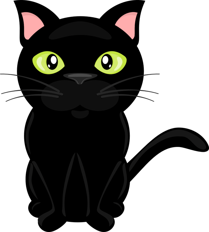 black cat Cat clipart library stock clear background rr collections.