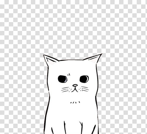 II Free Use, white and black cat illustration transparent.