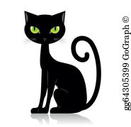 Black Cat Clip Art.